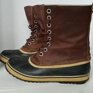 Sorel Brown Boots Leather Mens 10.5